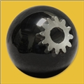 Spherical Artisan Knob With Gear