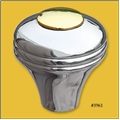 3961 Polished Brass & Aluminum Shift Knob